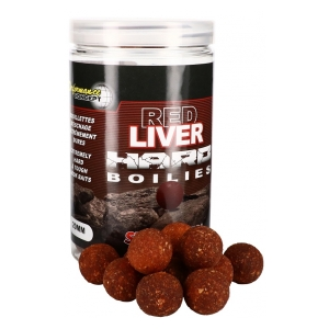 STARBAITS Tvrdé boilie Hard Boilies Red Liver 24mm 200g