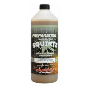 STARBAITS Booster PREP X SQUIRTZ GARLIC FISH 1 L