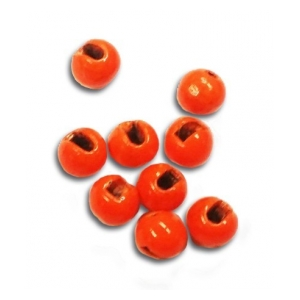 Tungsten Slotted Beads - Fluo orange 2mm