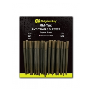 RidgeMonkey Anti Tangle Sleeves - převleky proti zamotání / 45mm hnědá organic brown