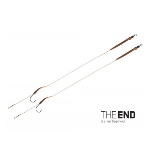 Návazec THE END Boilie rig / 2ks - 20cm/25lbs/#4