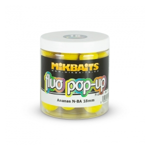 Mikbaits Plovoucí fluo boilie 250ml - Ananas N-BA 18mm