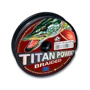 Šnůra návin Titan power šedá 0,18mm 11,10kg -1m