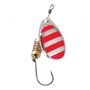 Effzett SINGLEHOOK SPINNER #1 3G RED STRIPES