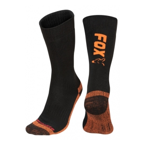 Fox International Ponožky Black/Orange Thermolite Long Sock vel. 44-47