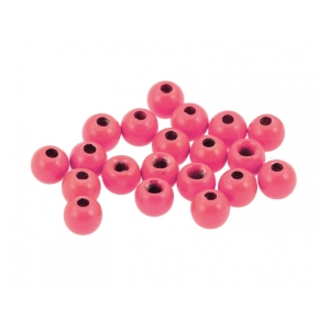 Brass hot beads rich pink - 4mm