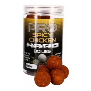 STARBAITS Tvrdé boilie Hard Boilies Pro Spicy Chicken 24mm 200g