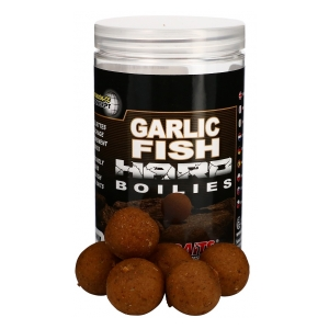 STARBAITS Tvrdé boilie Hard Boilies Garlic Fish 24mm 200g