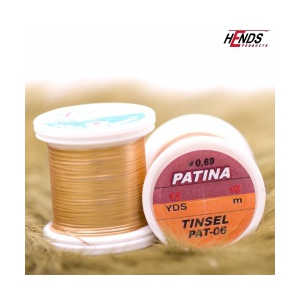 Hends Patina tinsel 0,69mm 10m  - Zlatá