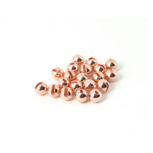 Tungsten Slotted Beads měděná - 3mm copper