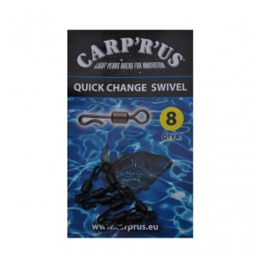 Carp ´R´ Us Quick Change Swivel - size 8, 8pcs