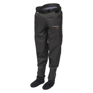 Savage Gear Brodící kalhoty Denim Waist Waders w/Stocking Foot XL