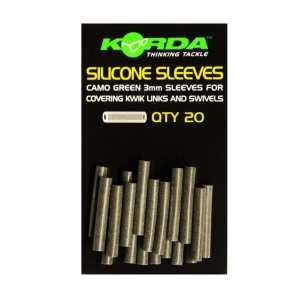 Silicone Sleeves Muddy Brown 20 ks
