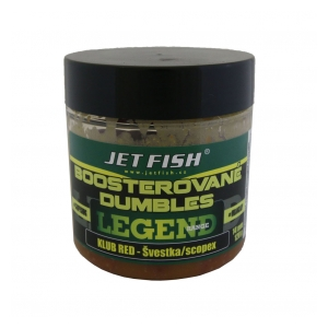 Jet Fish Boosterované dumbles Legend Range 120g - 14mm Klub red+švestka scopex