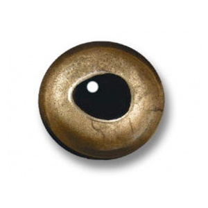 Sybai 3D epoxy eyes - 7,5mm real gold
