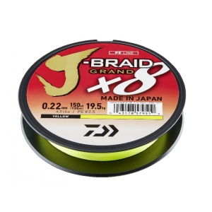Pletená šňůra J-Braid Grand X8 0.13mm-135m Yellow