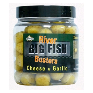 Dynamite Baits Boostrované dumbles Big Fish River Hookbaits Cheese & Garlic Busters 120g