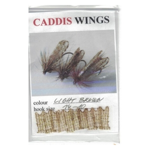Caddis wings - Light brown hook size 14-10