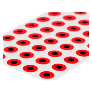 Sybai Flat eyes 3mm - Fluo red