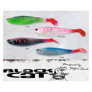 Rowdy shad - natural - 14cm 3pcs