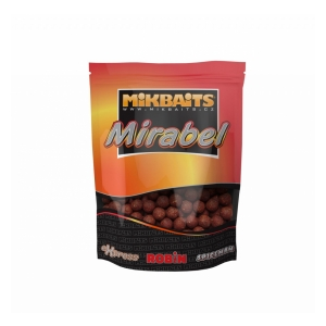 Mikbaits Boilie Mirabel 250g Broskev Black pepper 12mm