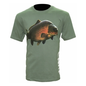 Zfish Tričko Carp T-Shirt Olive Green vel. XL