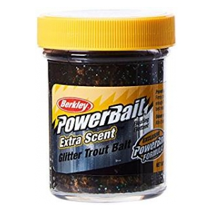 Berkley Pstruhové těsto SELECT GLITTER TROUTBAIT ® 50G BLACK ORANGE