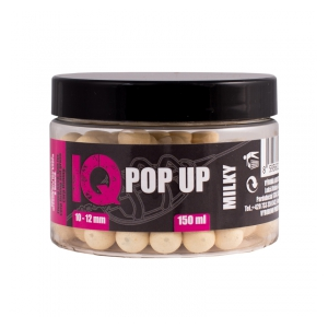 LK Baits IQ Method Feeder Pop UP Fluoro Boilies 10-12mm,150 ml Milky