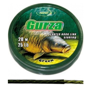 Ztužená návazcová šňůrka Coated braided hook links GURZA 25lb 20m