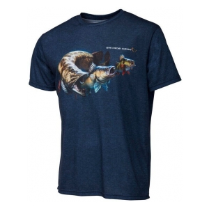 Savage Gear Tričko CANNIBAL TEE L BLUE