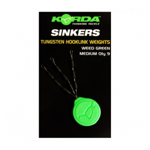 Sinker Tungsten Hooklink Weight - 9ks - Medium Green